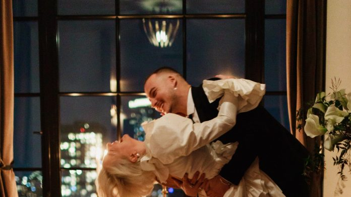 Caroline Vreeland wore Giambattista Valli for her wedding ceremony overlooking New York City