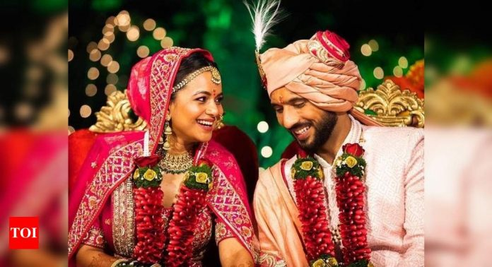 Punit J Pathak shares dreamy wedding photos with Ms. Nidhi Moony Singh;  says it's a