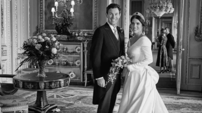 Princess Eugenie marks her second wedding anniversary with previously hidden photos