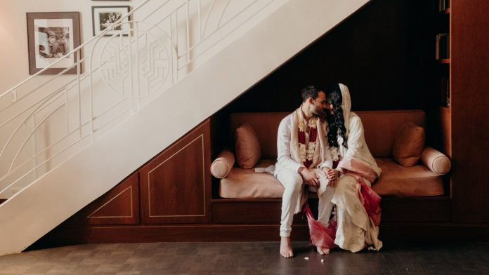 This Saint Laurent bride mixed old Hollywood glamor and beautiful Indian traditions at her wedding in LA