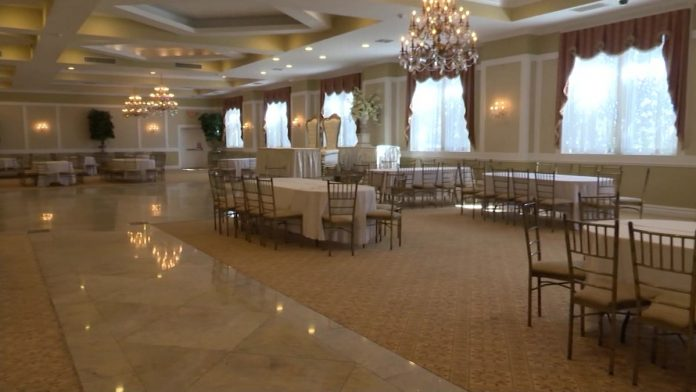 Wedding venues can be used up to 50% - or up to 150 people