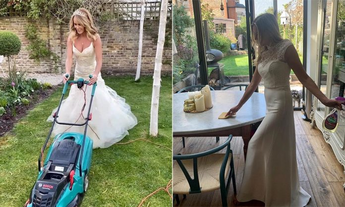 Celebrity brides who wore their wedding dresses twice: Holly Willoughby, Emma Willis, Lisa Faulkner, more