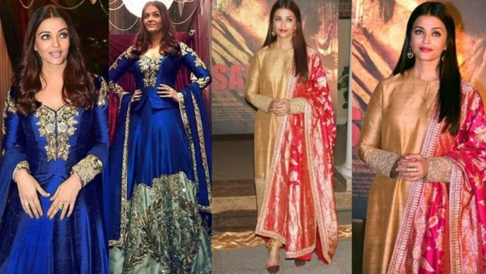 Ideas for elegant and gorgeous looks from Aishwarya Rai for your best friend's wedding