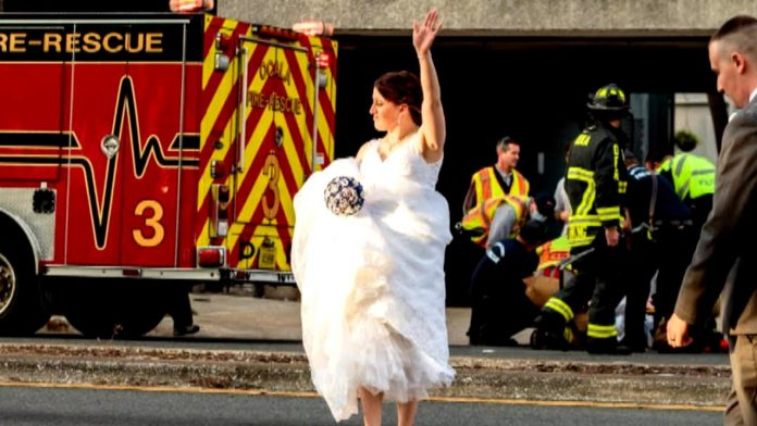 Florida Wedding MPs Pause their wedding photos and step into action to help with the car crash scene