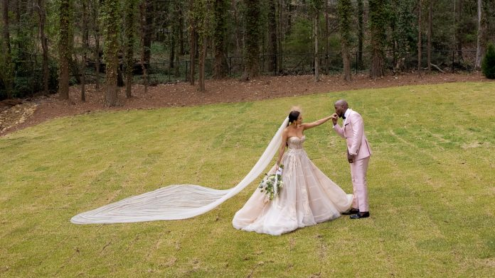 At Jeezy and Jeannie Mai's intimate wedding ceremony at their Atlanta home