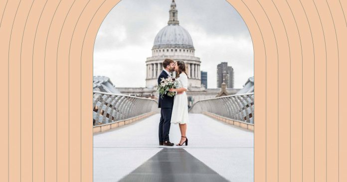 The London location offers the perfect backdrop for a city wedding